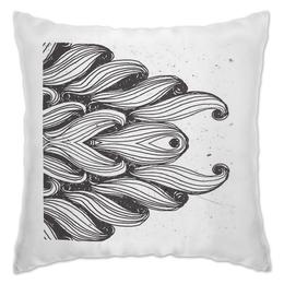"""Подушка """"ВОЛНА"""" - море, волна, рисунок, графика, линии"""