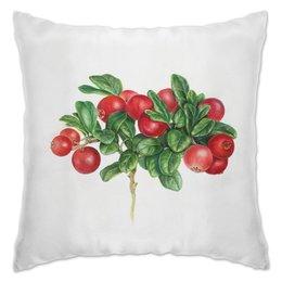 """Подушка """"Брусничка"""" - лето, растения, брусника, красные ягоды"""