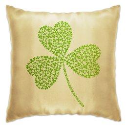 "Подушка ""Без названия"" - клевер, ирландия, день святого патрика, st patrick day, st patricks day"