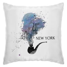 """Подушка """"New York City ART"""" - арт, в подарок, оригинально"""