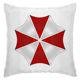 "Подушка ""Umbrella Corporation"" - игра, геймер, resident evil, umbrella, re"