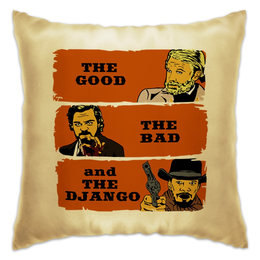 "Подушка ""Джанго (Django)"" - пародия, фокс, тарантино, джанго, ди каприо"