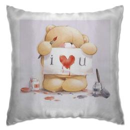"Подушка ""Я тебя люблю"" - любовь, день святого валентина, 14 февраля, мишки"