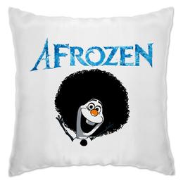 "Подушка ""Afrozen"" - африка, снеговик, frozen, холодное сердце"