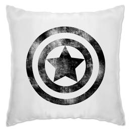 """Подушка """"Капитан Америка"""" - комиксы, супергерой, мстители, капитан америка, щит"""