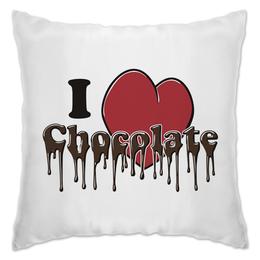 """Подушка """"Люблю Шоколад"""" - сердце, любовь, люблю, шоколад, сладкий"""