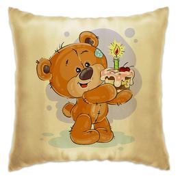 """Подушка """"Мишка Тэдди"""" - рисунок, медвежонок, игрушка, подарочный, мишка тэдди"""