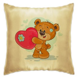 """Подушка """"Большое сердце"""" - сердце, любовь, поцелуй, день влюблённых, мишка тэдди"""