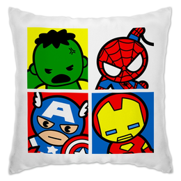 """Подушка """"Мстители"""" - арт, комиксы, супергерои, pop art, мстители"""