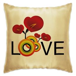 """Подушка """"Любовь"""" - любовь, цветы"""
