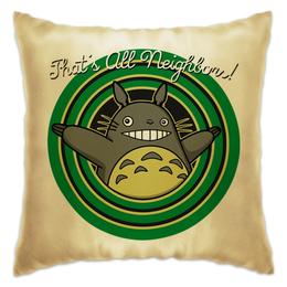 "Подушка ""Мой сосед Тоторо ( My Neighbor Totoro )"" - аниме, тоторо, totoro, мой сосед тоторо"