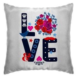"""Подушка """" Любовь"""" - любовь, цветы"""