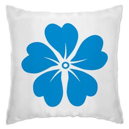 """Подушка """"синие цветы"""" - цветы, узор, купить, с цветами, подушку"""