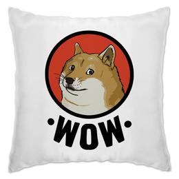 """Подушка """"Лайка WOW"""" - прикол, мем, животные, собака, улыбка"""