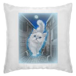 """Подушка """"ЛУННЫЙ КОТ"""" - кот, животные, рисунок, сказка"""