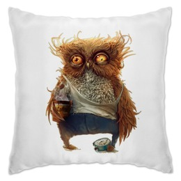 "Подушка ""Good morning"" - сова, owl, morning, sleepy"