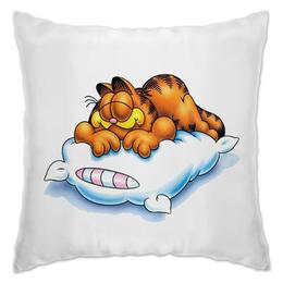 """Подушка """"Гарфилд"""" - гарфилд, рыжий кот, гарфилд спит, кот на подушке, ржачный кот"""
