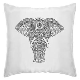 """Подушка """"Индия"""" - узор, животные, слон, роспись, индия"""