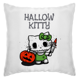 "Подушка ""Hallow Kitty"" - кошка, hello kitty, тыква, хелло китти, хэловин"