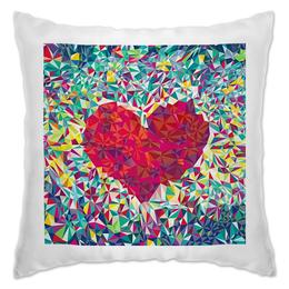 """Подушка """"Любовь"""" - любовь, love, heart, сердце, полигоны"""