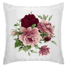 """Подушка """"Flowers"""" - цветы, flowers, розы, roses"""