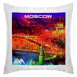 """Подушка """"Moscow Love"""" - москва, moscow, патриот, искусство"""