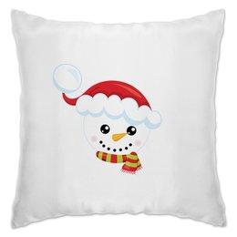 """Подушка """"Снеговик"""" - новый год, зима, снег, шапка, снеговик"""