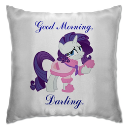 """Подушка """"Rarity"""" - прикольно, рисунок, прикольные, my little pony, rarity, friendship is magic, подушка, моя милая пони"""