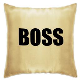 """Подушка """"BOSS-Начальник"""" - работа, подарок, подарить, начальнику"""