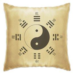 """Подушка """"Космогенез в китайской философии"""" - монада, триграммы, дао, china, yin-yang"""