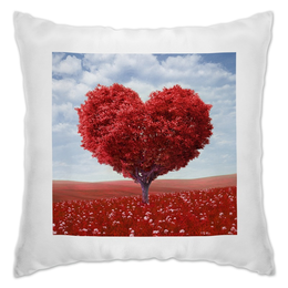 """Подушка """"Любовь"""" - сердце, 14 февраля, природа, любоввь"""