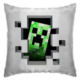 "Подушка ""Крипер. Майнкрафт"" - игры, minecraft, майнкрафт, крипер, геймерские"