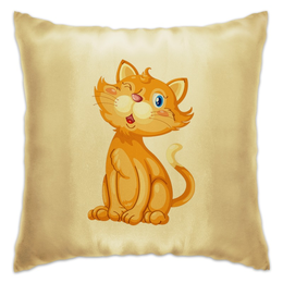 "Подушка ""Рыжий кот"" - кот, кошка, животные, котёнок"