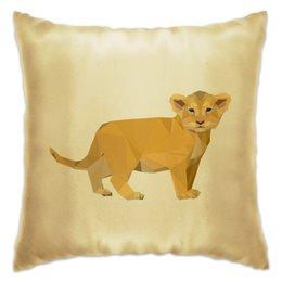 "Подушка ""Молодой тигрёнок."" - африка, тигр, животное, ребёнок, тигрёнок"