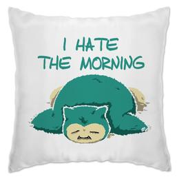 "Подушка ""Ненавижу утро"" - будильник"