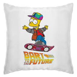 "Подушка ""Bart To The Future"" - simpsons, назад в будущее, симпсоны, back to the future, барт"