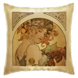 """Подушка """"Для подруги"""" - девушка, 8 марта, картина, винтаж, альфонс муха"""