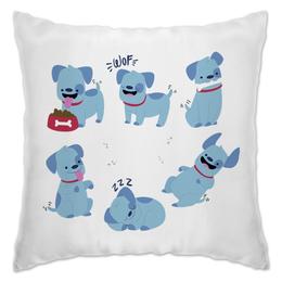 """Подушка """"Смешные собаки"""" - щенок, собака, пёс, 2018, год собаки"""