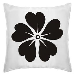 "Подушка ""black flower"" - цветы, узор, сон, купить, подушку"
