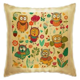 """Подушка """"Безумные совы"""" - смешная, дом, сова, подушка, owls"""
