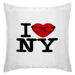 """Подушка """"I love NY """"Magical potenciales"""""""" - i love, ny, оригинально, i love ny"""
