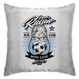 """Подушка """"Футбол"""" - футбол, спорт, матрёшка"""