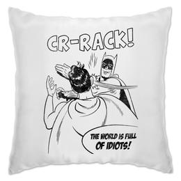 "Подушка ""Бэтмен и Робин. Пощёчина"" - бэтмен и робин"