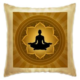 """Подушка """"Yoga  """" - йога, ом, восток, yoga"""