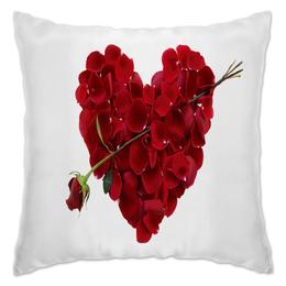 """Подушка """"Сердце"""" - любовь, цветы, сердца, лепестки, розы"""