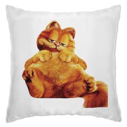 """Подушка """"Гарфилд"""" - кот, еда, гарфилд'"""