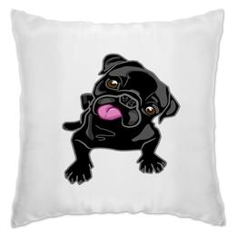 """Подушка """"Черный пес"""" - животные, пес, щенок, собака, собачка"""