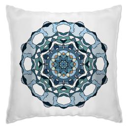 """Подушка """"Спокойствие"""" - цветок, рисунок, зеленый, природа, мандала"""