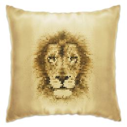 """Подушка """"Царь зверей """" - лев, царь зверей, 2016"""