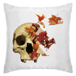 """Подушка """"Осенний череп"""" - череп, скелет, осень"""